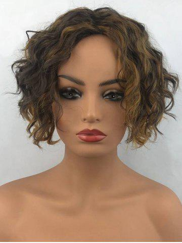 Shop Short Center Parting Colormix Fluffy Wavy Synthetic Wig