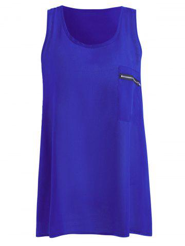 Affordable Summer Plus Size Chiffon Tank Top
