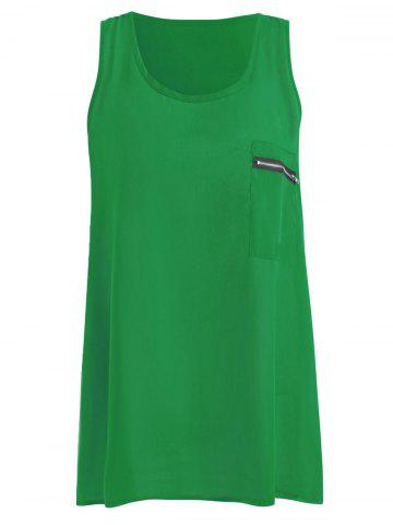 Fancy Summer Plus Size Chiffon Tank Top