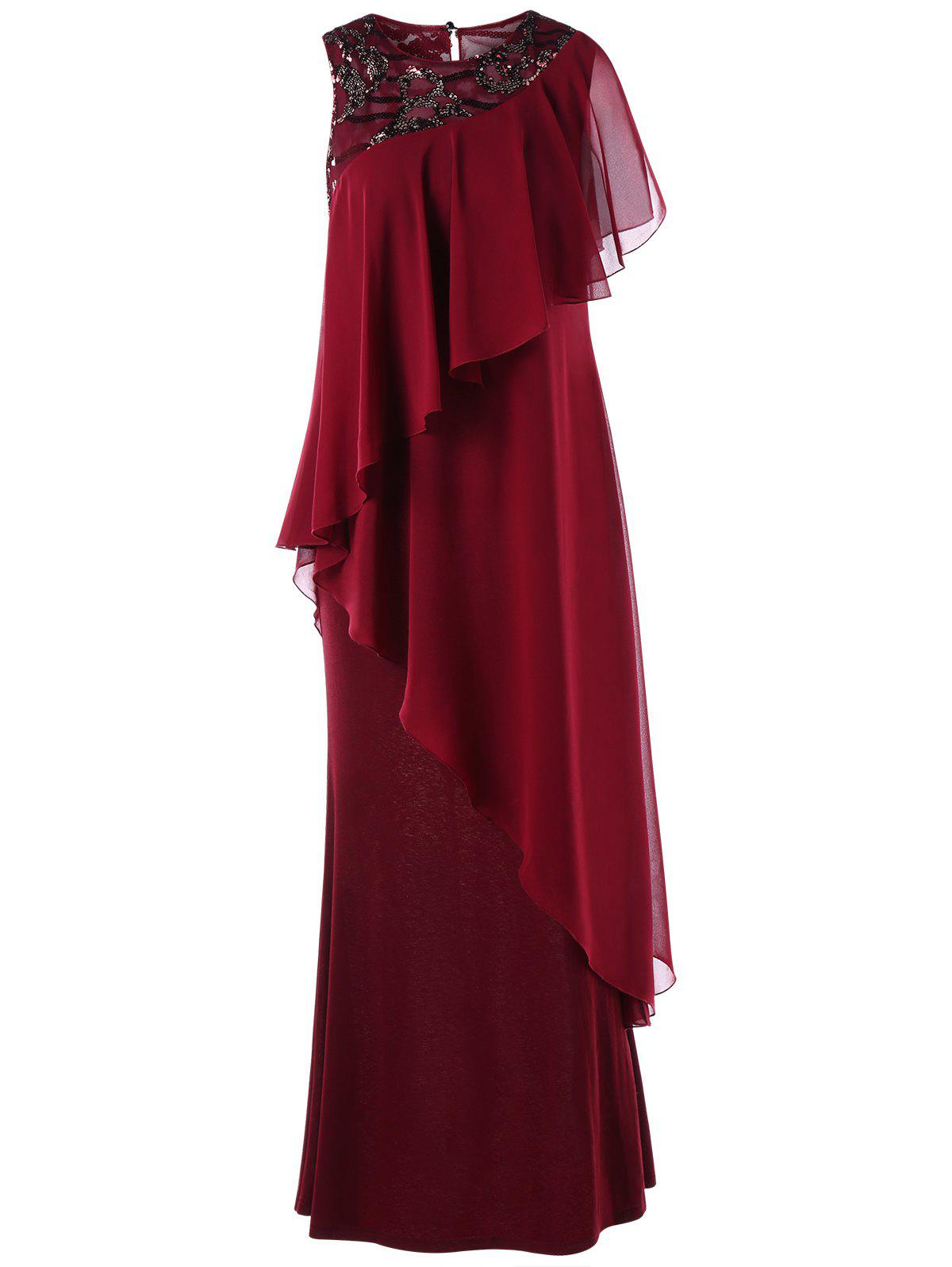 New Sleeveless Tiered Formal Maxi Dress