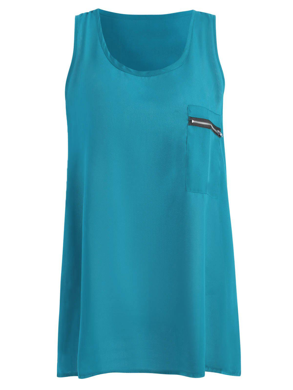 Outfit Summer Plus Size Chiffon Tank Top