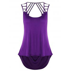 Strappy High Low Tank Top -