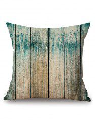 Wood Grain Print Decorative Linen Sofa Pillowcase -