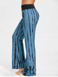 Ink Print Wide Leg Pants -
