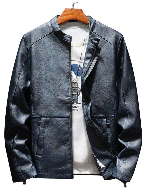 Best Zip Up Casual Faux Leather Jacket