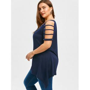 Ladder Cut Sleeve Plus Size Tunic T-shirt -
