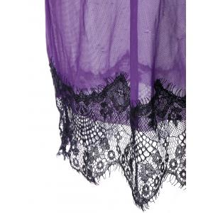 Sheer Lace Tulle Lingerie Babydoll Dress -