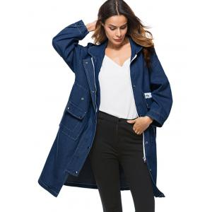 Poches Long Denim Manteau -