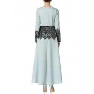 Robe en mousseline de soie Maxi Arabian Panel -