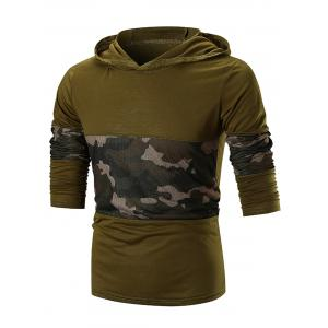 Camo Mesh Panels Sweat à capuche -