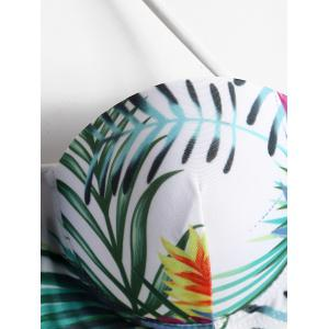 Underwire Tropical Print Bikini Set -