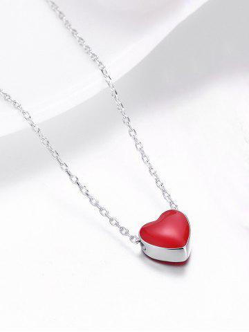 Silverred silver tiny love heart pendant necklace rosegal hot silver tiny love heart pendant necklace mozeypictures Gallery