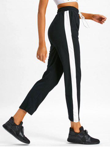 Fashion Color Trim Workout Ninth Pants