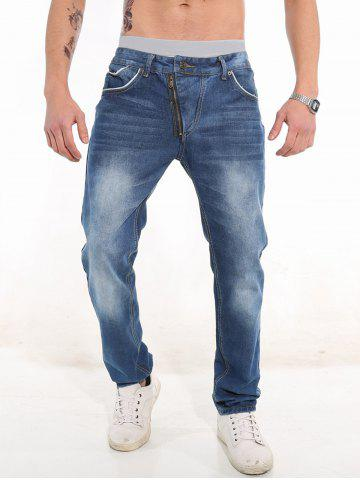 Online Classic Five-pocket Faded Jeans