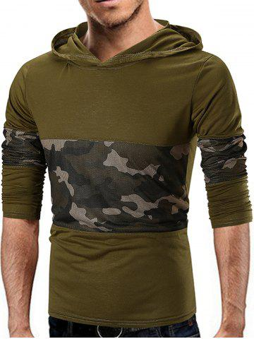 Camo Mesh Panels Sweat à capuche