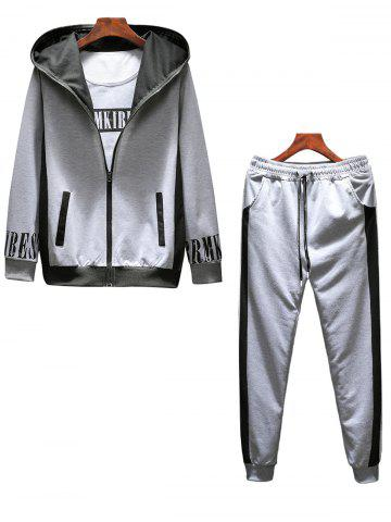 Outfits Graphic Print Zip Up Hoodie Tracksuit