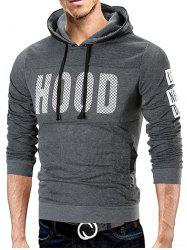 Fleece Lined Graphic Pullover Hoodie -