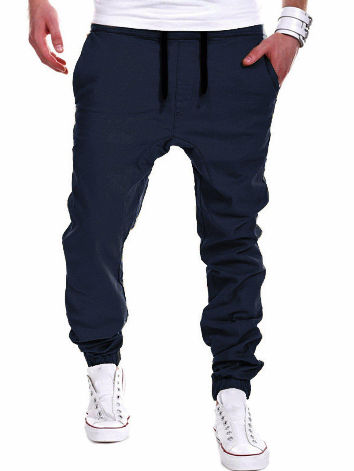 Chic Drawstring Chino Jogger Pants