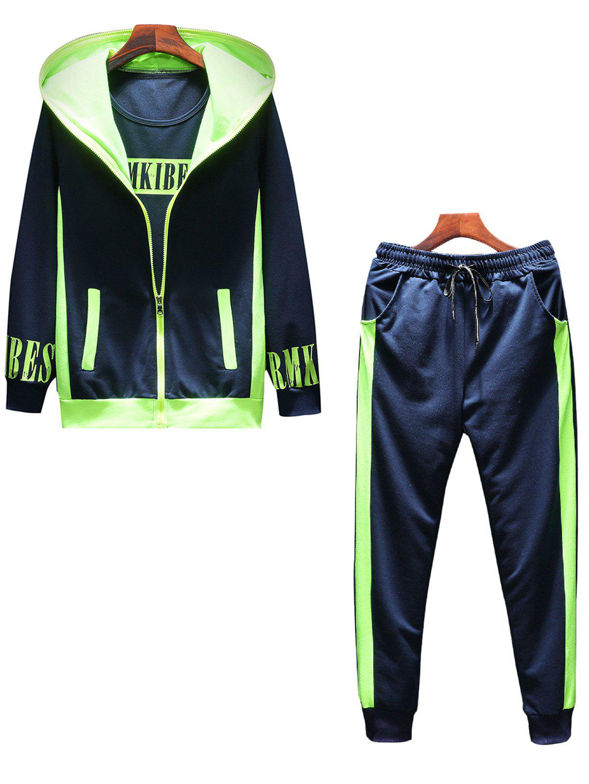 Shop Graphic Print Zip Up Hoodie Tracksuit