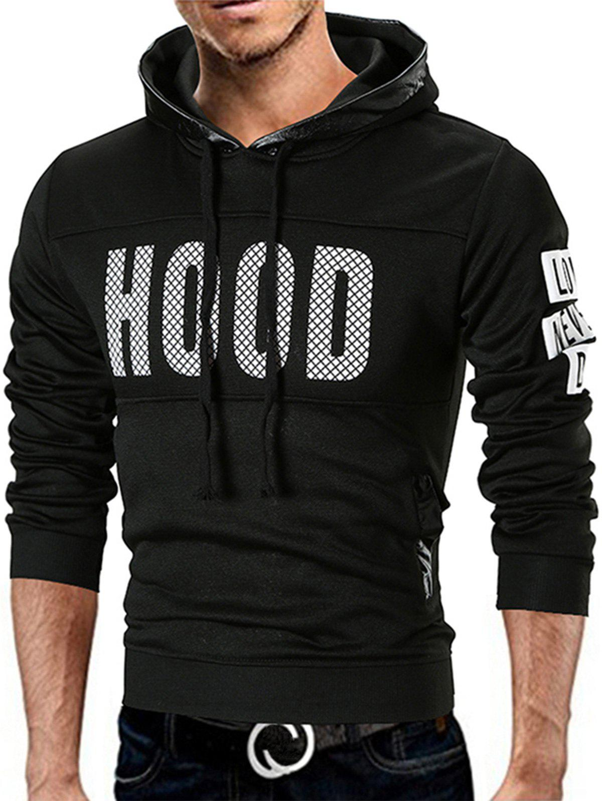 Unique Fleece Lined Graphic Pullover Hoodie