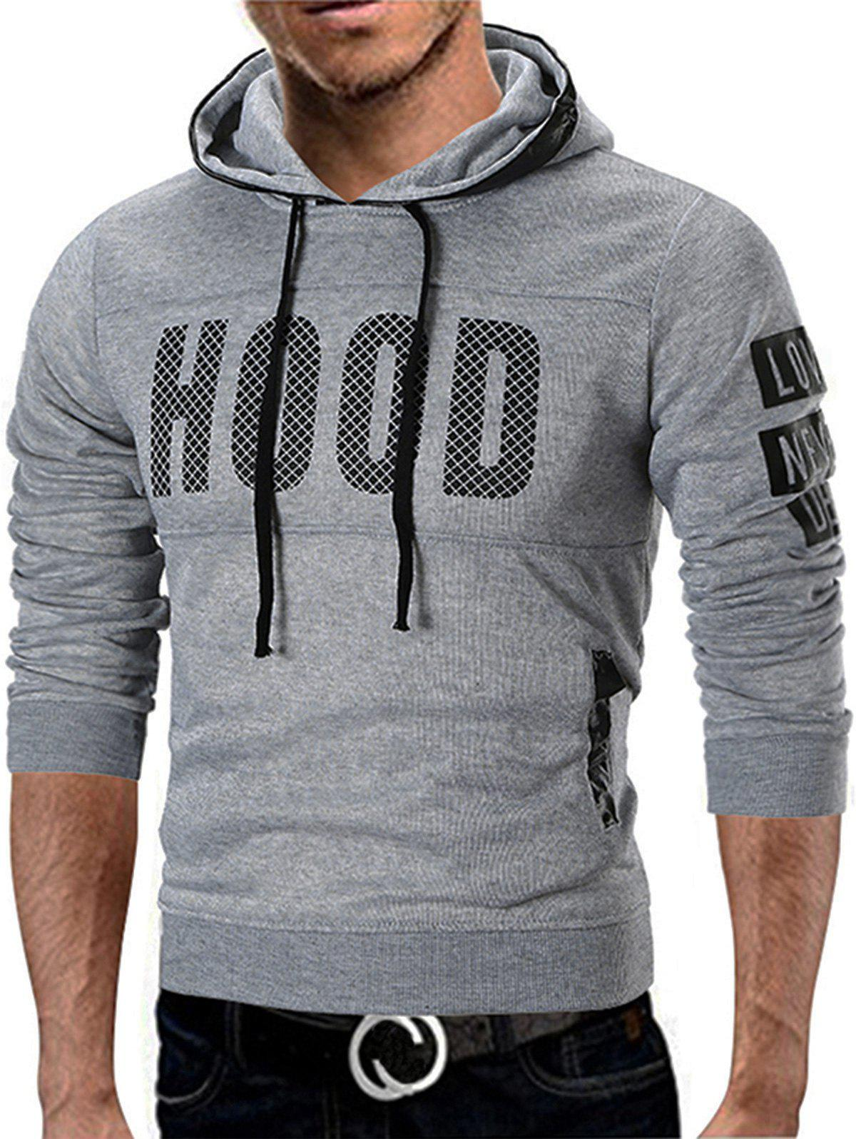 Latest Fleece Lined Graphic Pullover Hoodie