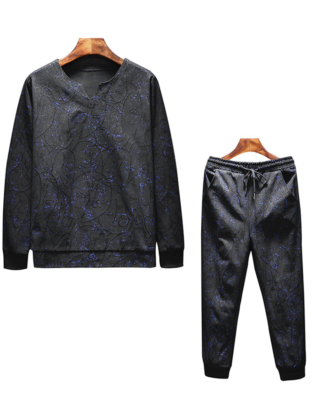 Fashion Jacquard and Printed Tracksuit