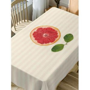 Orange Striped Pattern Waterproof Dining Table Cloth -
