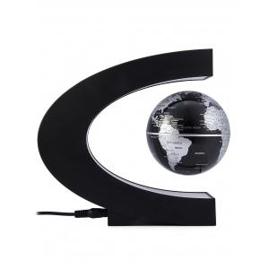 C Shape Magnetic Levitation Floating Globe World Map with LED Light Decoration for Home Office -