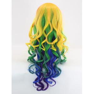 Long Side Bang Loose Wave Colormix Synthetic Cosplay Wig -