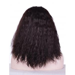 Medium Center Parting Fluffy Water Wave Lace Front Synthetic Wig -