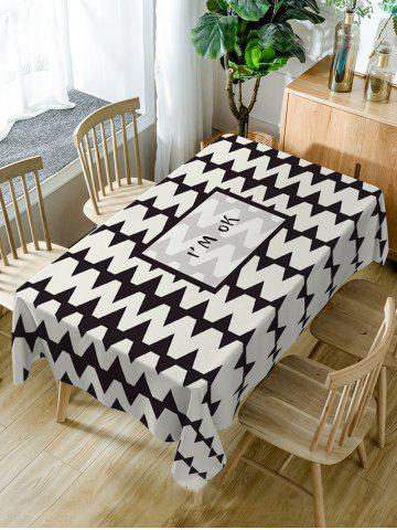 Chic Zig Zag Pattern Waterproof Dining Table Cloth