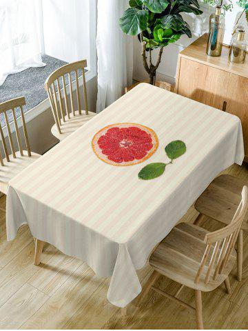 Affordable Orange Striped Pattern Waterproof Dining Table Cloth