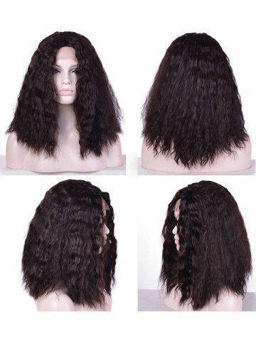 Shop Medium Center Parting Fluffy Water Wave Lace Front Synthetic Wig