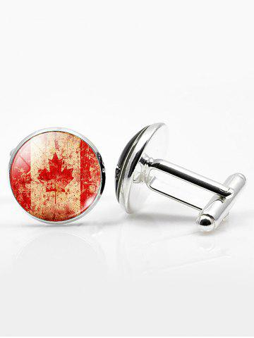 Store Vintage Circle National Flag Cufflinks