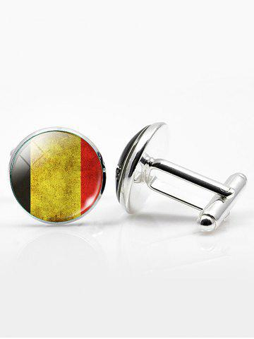 Outfit Vintage Circle National Flag Cufflinks