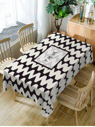 Zig Zag Pattern Waterproof Dining Table Cloth -
