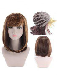 Perruque synthétique Side Side Bang Colormix Straight Bob Cosplay -