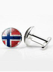 Vintage Circle National Flag Cufflinks -