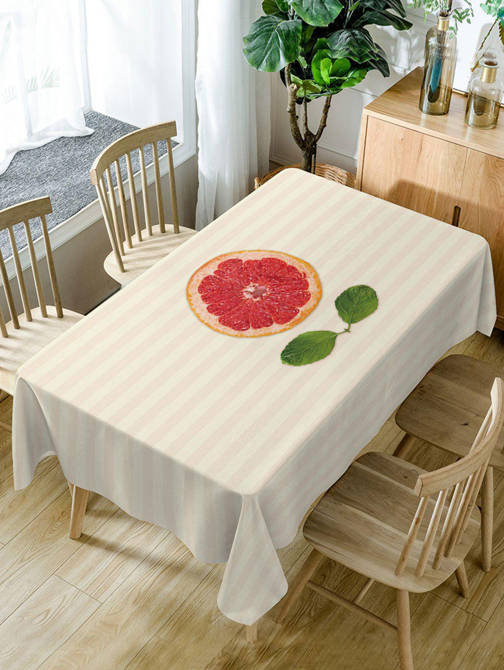 Latest Orange Striped Pattern Waterproof Dining Table Cloth