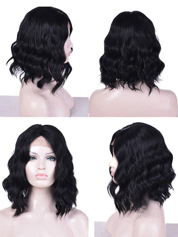 Chic Lace Front Medium Center Parting Natural Wavy Synthetic Wig