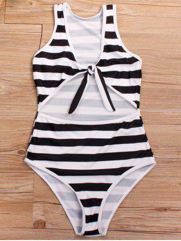 Cut Out Knotted One-piece Swimsuit