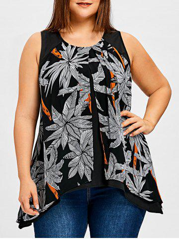 Buy Plus Size Tree Print Flyaway Top