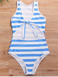 Cut Out Knotted One-piece Swimsuit -