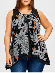 Plus Size Tree Print Flyaway Top -