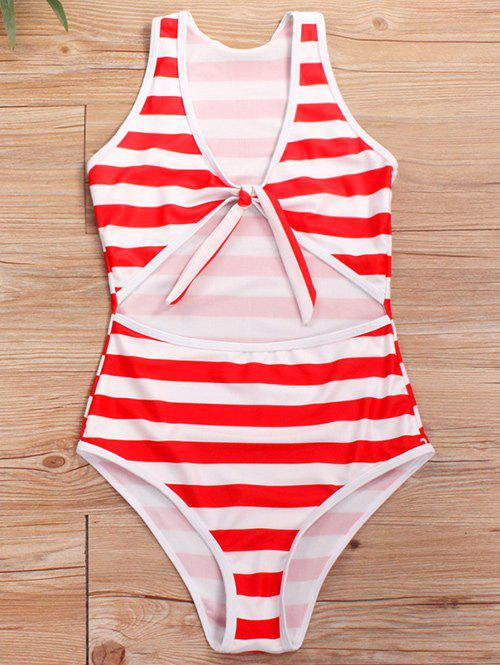 Cheap Cut Out Knotted One-piece Swimsuit