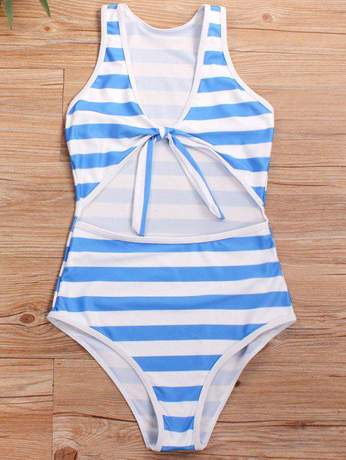 Shop Cut Out Knotted One-piece Swimsuit