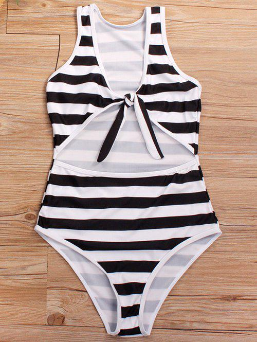 Sale Cut Out Knotted One-piece Swimsuit