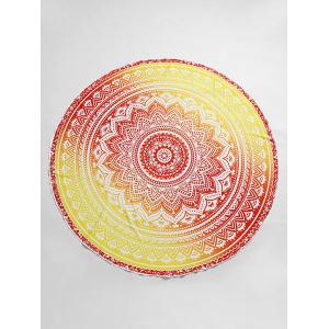 Ombre Mandala Print Beach Throw -
