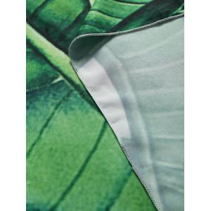 Leaf Print Rectangle Beach Throw -