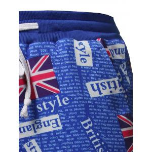 Allover Union Flag Pattern Beach Shorts -